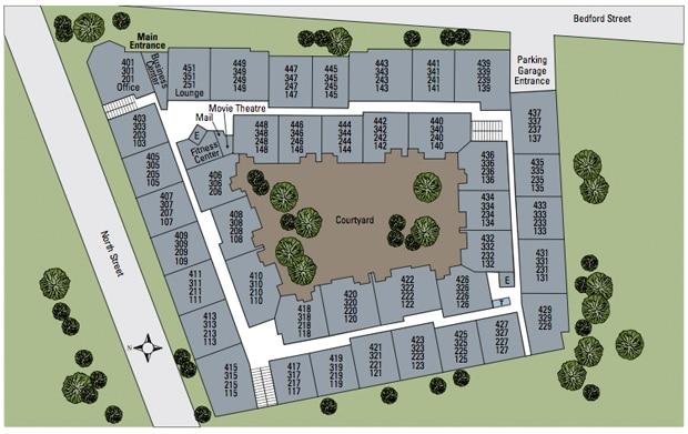 Village at Stamford Site Map